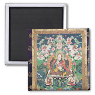 Tanka of Padmasambhava, c.749 AD 2 Inch Square Magnet
