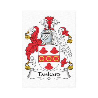 Tankard Family Crest Canvas Print