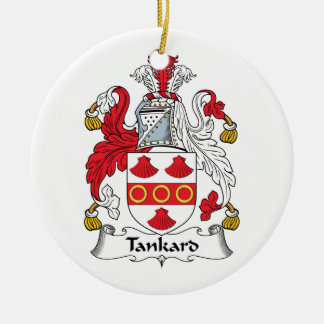 Tankard Family Crest Christmas Ornament
