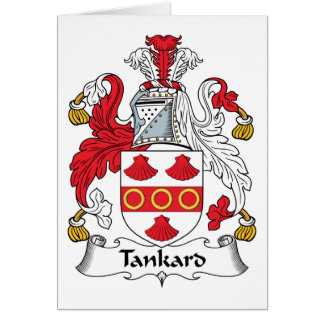 Tankard Family Crest Greeting Card