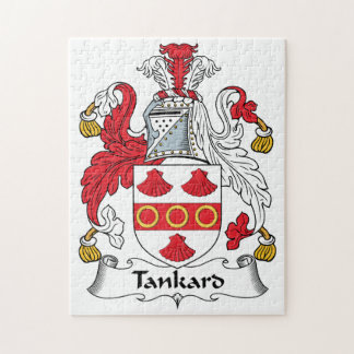 Tankard Family Crest Jigsaw Puzzles
