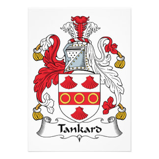 Tankard Family Crest Personalized Announcements