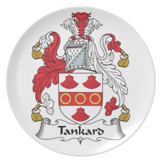 Tankard Family Crest Plate