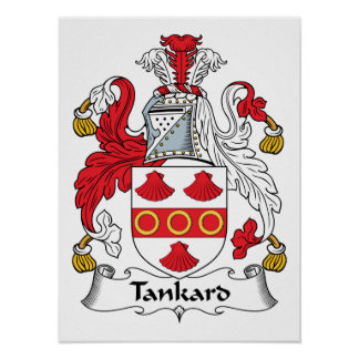 Tankard Family Crest Posters
