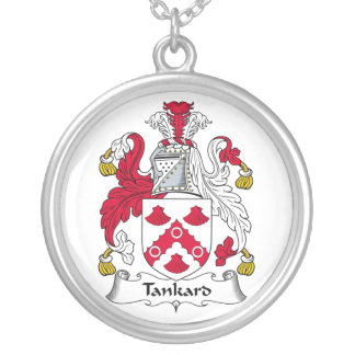 Tankard Family Crest Silver Plated Necklace