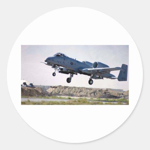 'Tankbuster A-10 Pegatina Redonda
