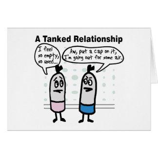 Tanked Relationship Greeting Card