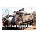 Tanked todo encima de: el tanque militar acorazado tarjeta postal