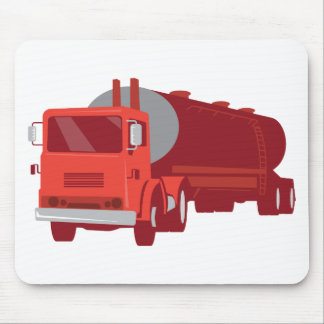 Tanker Cement Truck Retro Mouse Pad