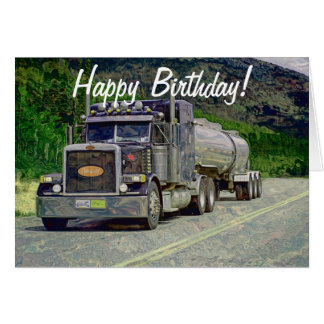 Tanker Truck Funny Trucker Birthday Cards
