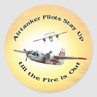 Tankers Stay Up Till the Fire is Out Classic Round Sticker