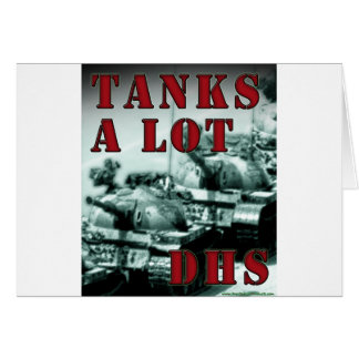 Tanks A Lot DHS Card