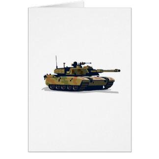 tanks a lot greeting card