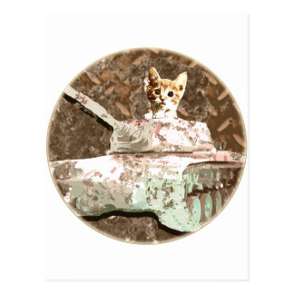 Tanks Cat Postcard