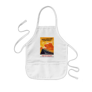 Tanks Don't Fight in Factories Kids' Apron