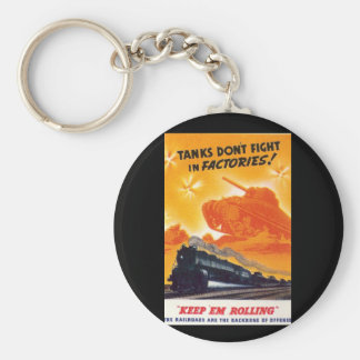 Tanks Don't Fight in Factories Keychains