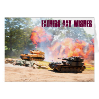 Tanks fathers day cards. card