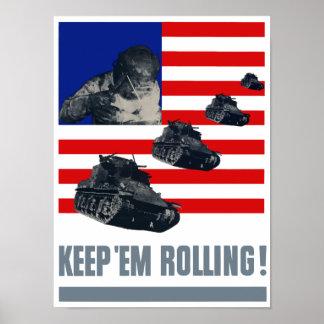 Tanks -- Keep 'Em Rolling Poster