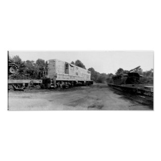 Tanks on Flatcars, McMinnville Tennessee Poster