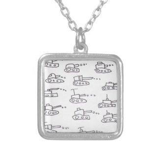 TANKS SILVER PLATED NECKLACE