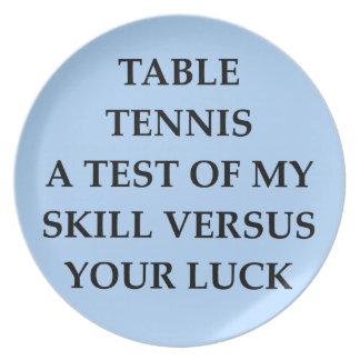 tanle tennis plate