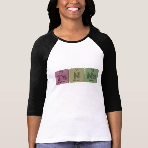 Tanna como sodio del nitrógeno del tantalio camisetas