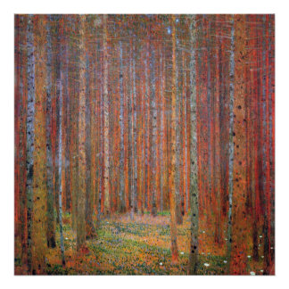 Tannenwald I by Gustav Klimt Poster