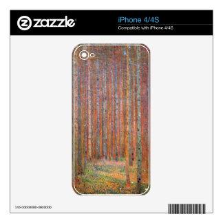 Tannenwald I by Gustav Klimt Decals For iPhone 4