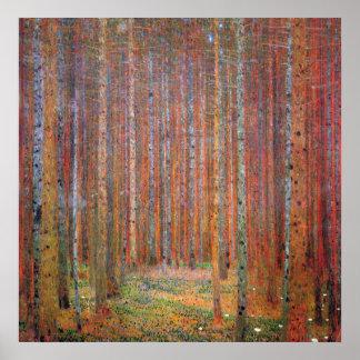 Tannenwald I de Gustavo Klimt Posters