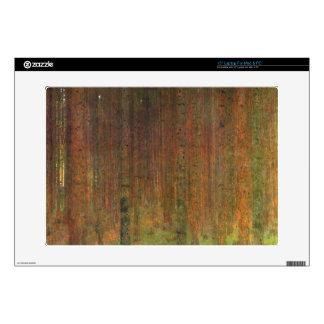 """Tannenwald II by Gustav Klimt 15"""" Laptop Decals"""