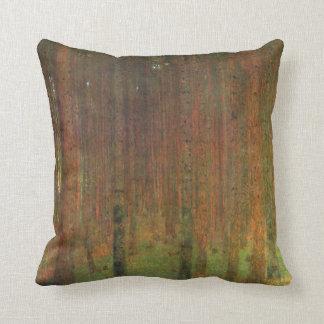 Tannenwald II by Gustav Klimt Throw Pillow