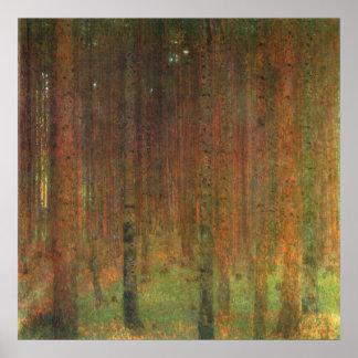 Tannenwald II de Gustavo Klimt Posters