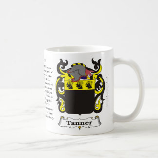 Tanner Family Coat of Arms Mug