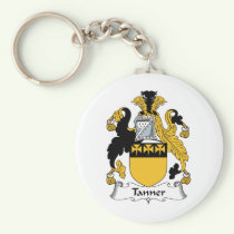 Tanner Family Crest Keychain