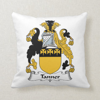 Tanner Family Crest Throw Pillow