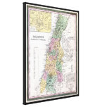 Tanner Map Of Palestine - Circa 1836 Gallery Wrap Canvas