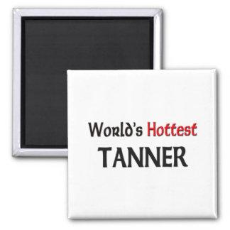 Tanner más caliente del mundo imán cuadrado