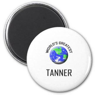 Tanner más grande del mundo imán redondo 5 cm