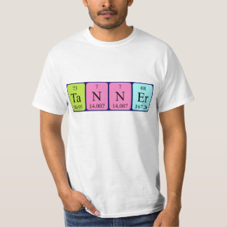 Tanner periodic table name shirt