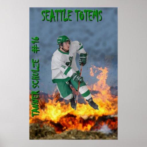Tanner Schulze - tótemes de Seattle Póster