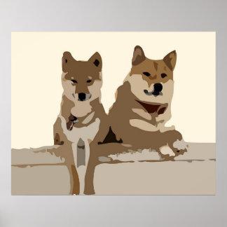Tanner & Slyler Woodcut Poster