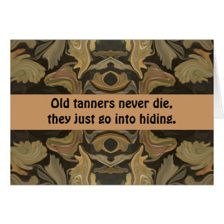 tanners humor greeting card