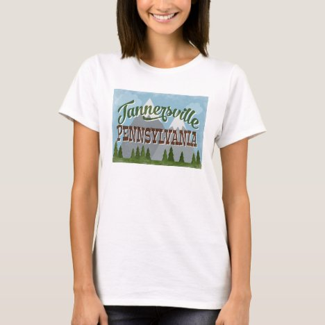 Tannersville Pennsylvania Fun Retro Mountains T-Shirt