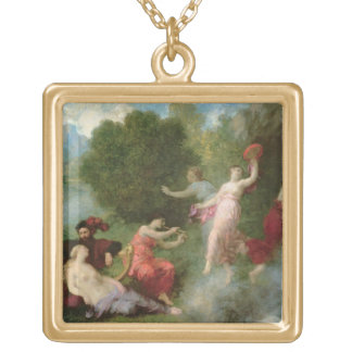 Tannhauser on the Venusberg, 1864 (oil on canvas) Personalized Necklace