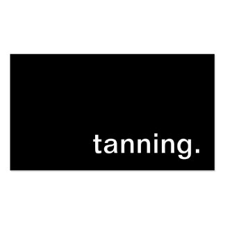 Tanning Business Card
