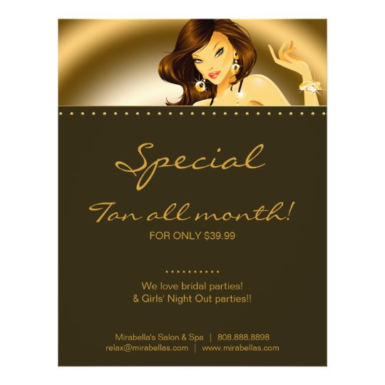 Tanning Flyer Super Gold Jewelry Woman