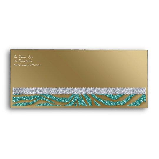 tanning gift certificate envelope zebra glitter zazzle com