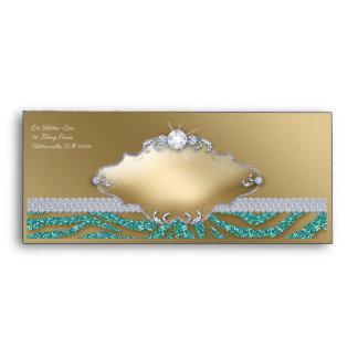 Tanning Gift Certificate Envelope Zebra Glitter 2