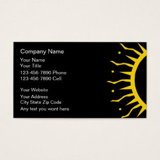 Tanning Salon Business Cards