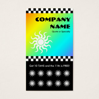 tanning salon checkers loyalty card